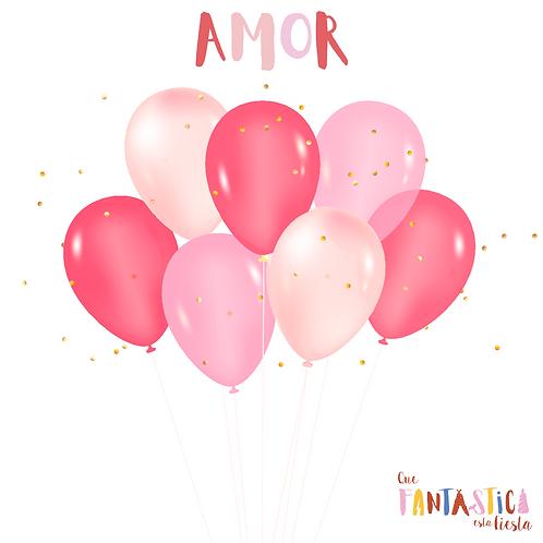 Set globos latex Amor