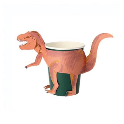 Set Vasos de dinosaurios -Meri Meri