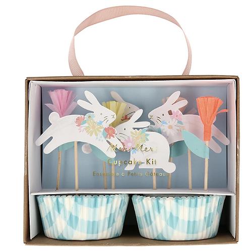 Kit de cupcakes - conejos primaverales Meri Meri