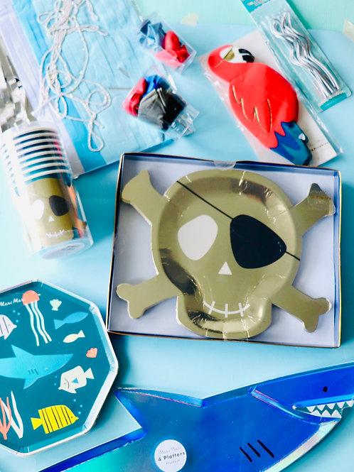 Pack piratas y tiburones- Meri Meri