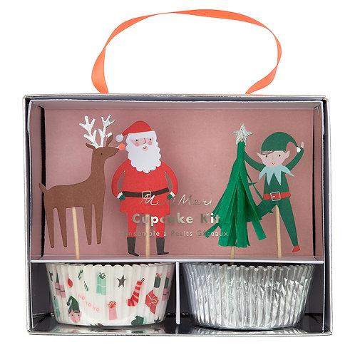 Kit para cupcakes iconos de Navidad - Meri Meri