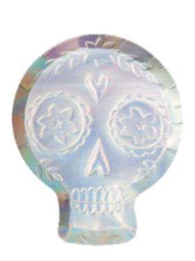 Platos calavera holográfica- Meri Meri