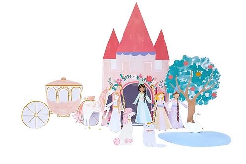 Impresión castillo princesas Meri Meri