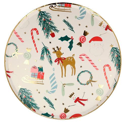 Platos navideños - Meri Meri