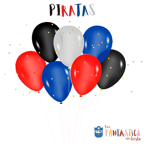 Set de globos latex piratas