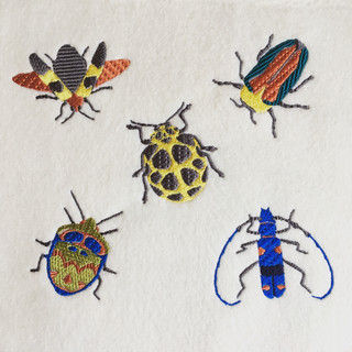 Embroidered Bugs