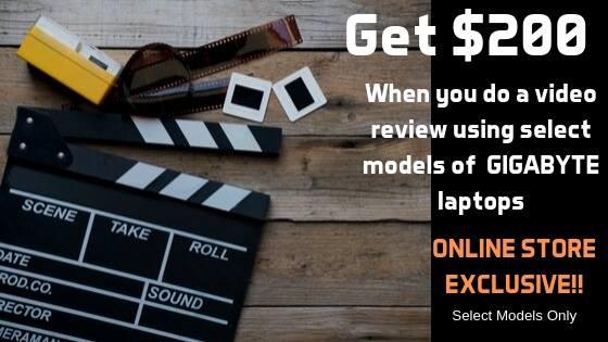 GIGABYTE Video review program for select models of  GIGABYTE laptops