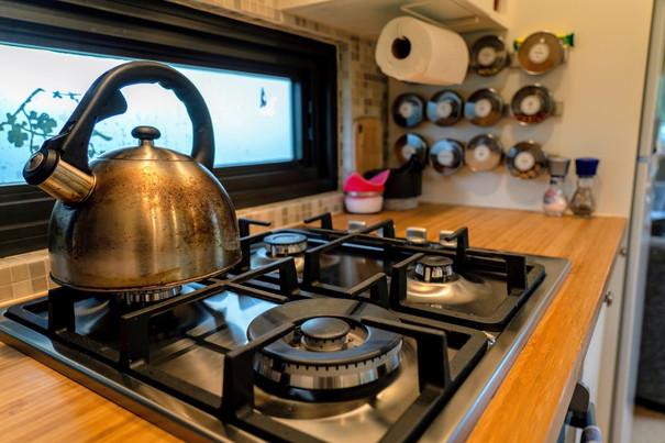 Kitchen hob & spice rack