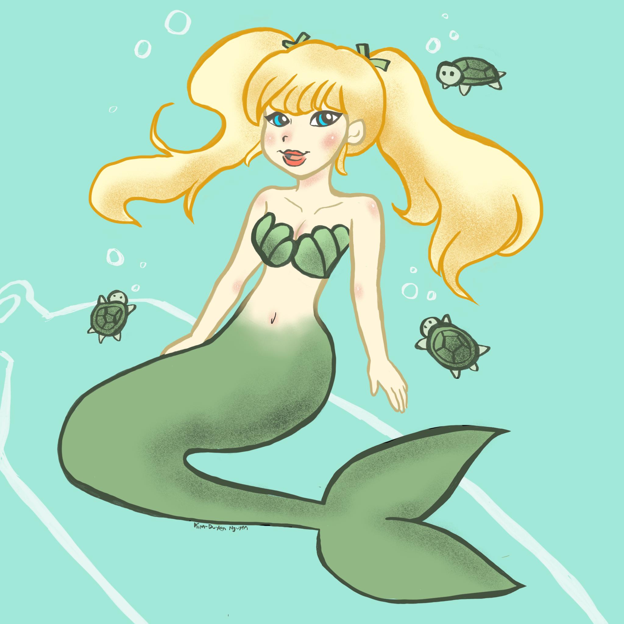 Mermaid with Turtles