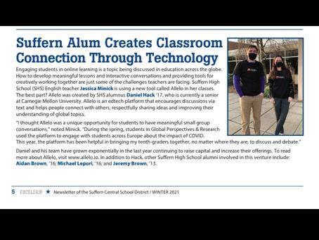 "Suffern Central School District: ""Suffern Alum Creates Classroom Connection Through Technology"""