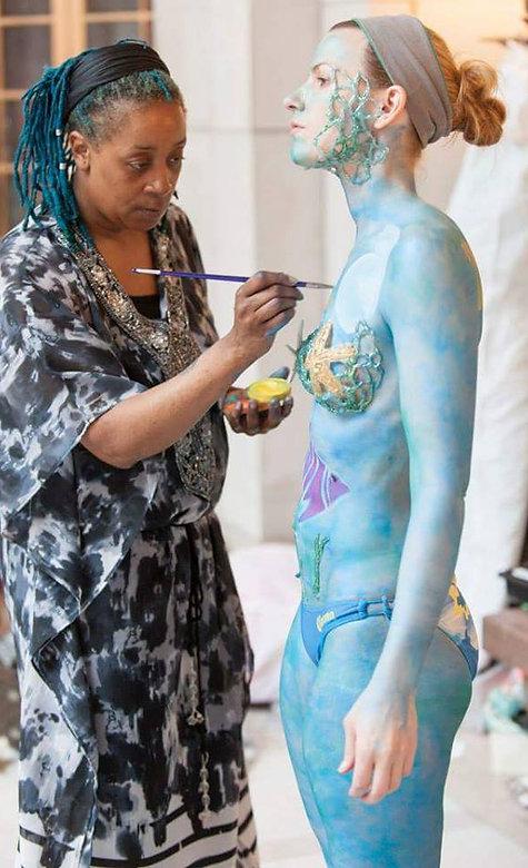 Joy Monroe body painting