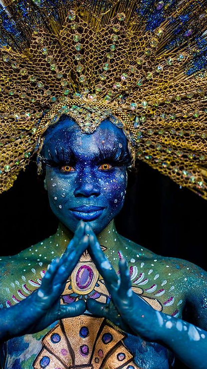 Body painted by Joy of Life Art Creation