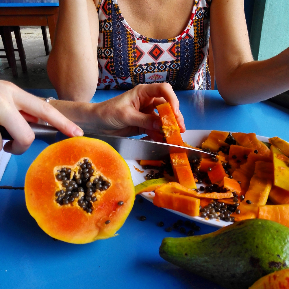 Papaya, Caye Caulker island, Belize