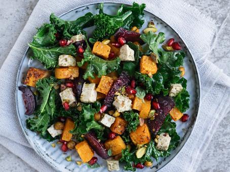 TryVegan! Midden-Oosterse Salade met Tofu-Feta en Granaatappel