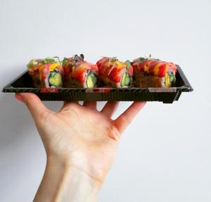 Vegan sushi at Acai Berry