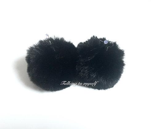 Pompom korvakorut -black