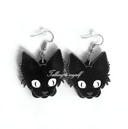Kissanpää - korvakorut