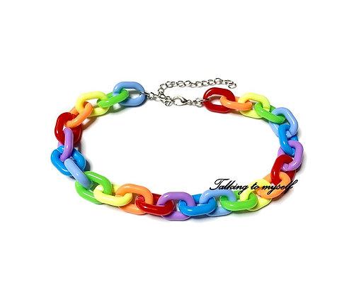 Chunky rainbow - choker