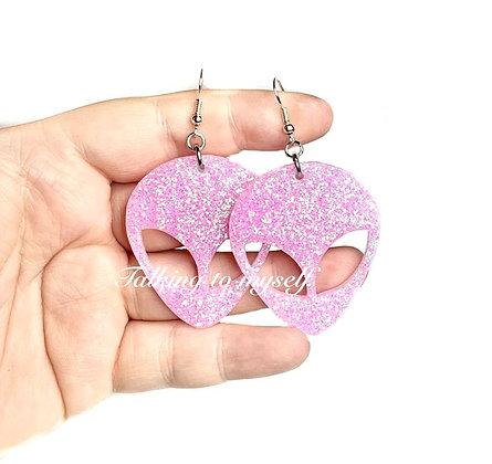 Alien - korvakorut/earrings - pink