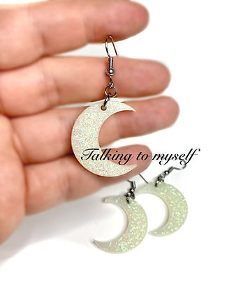 Moon - korvakorut/earrings - nightglow