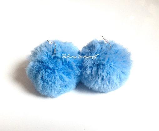 Pompom korvakorut -blue