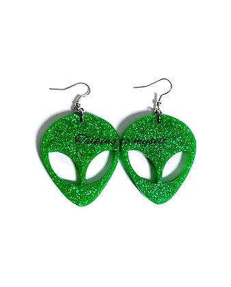 Alien - korvakorut/earrings - green
