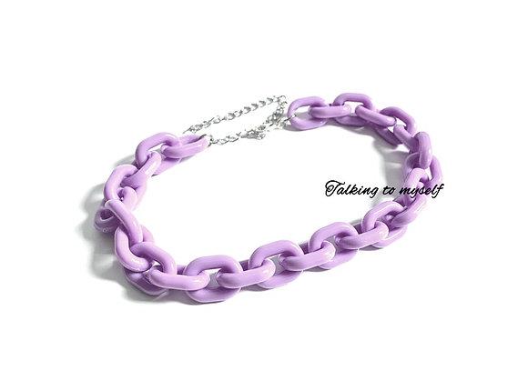 Chunky purple - choker