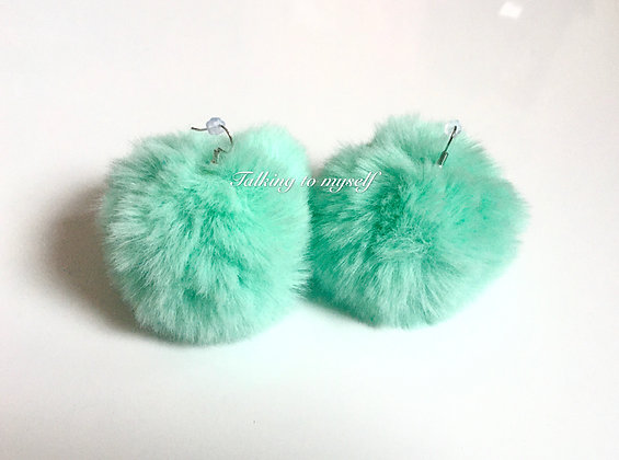Pompom korvakorut -green