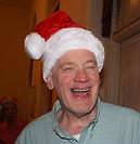 Photo of actor Bob in a Santa Hat