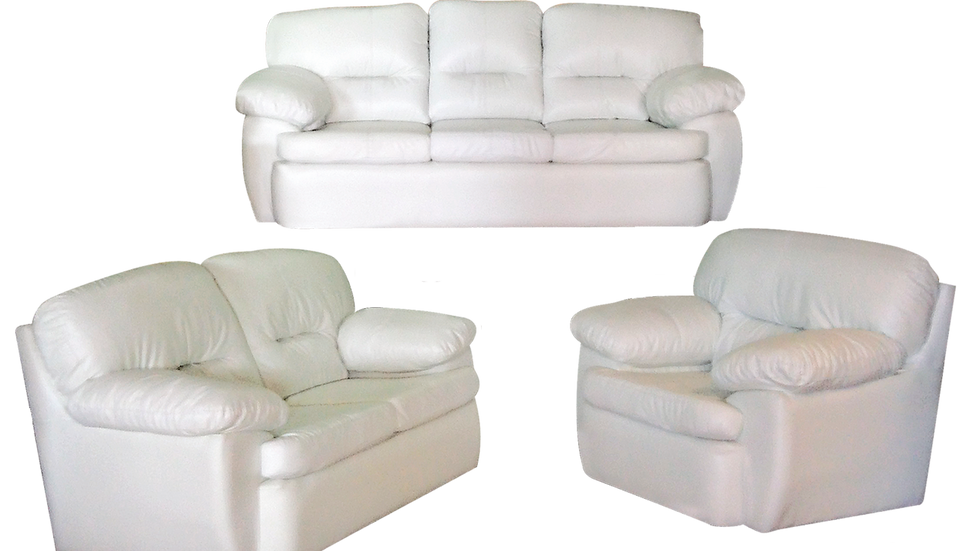 Sala Nube / Sofá / Love Seat / Sillón / Tapizado en Visantino Blanco