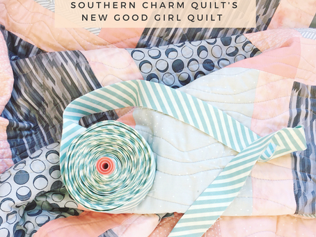 Modern Log Cabin meets Jelly Roll Race: Pattern review of Southern Charm Quilts' latest pattern,