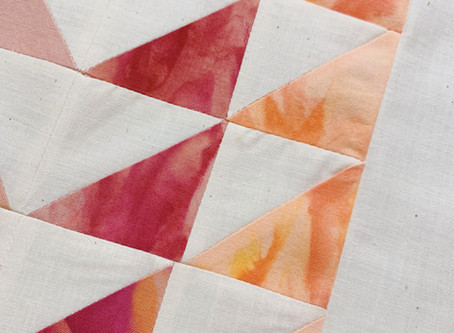 Montara Wall Hanging: From Vacilando Quilting's new book, Simple Geometric Quilting.