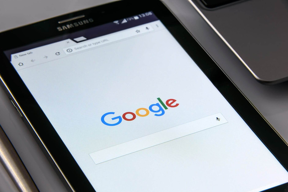 home page di google su tablet