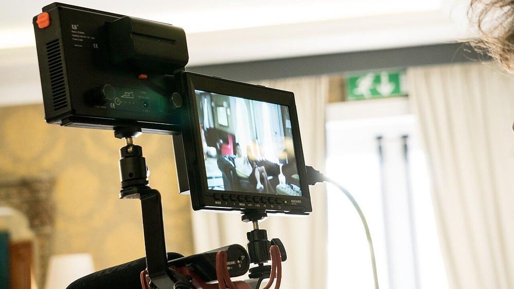 videocamera che sta registrando un video