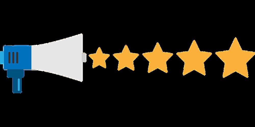 megafono con 5 stelle