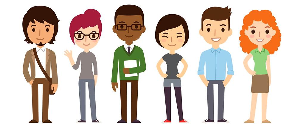 avatar di 7 persone diverse