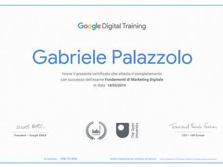 Attestato Google Digital Training