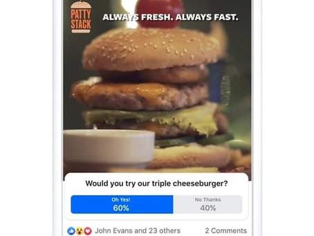 Facebook lancia i sondaggi video come inserzioni