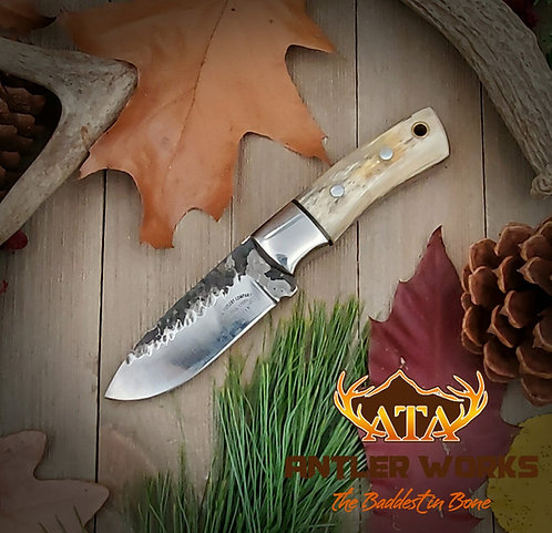 Ram's horn handle hunting knife - D2