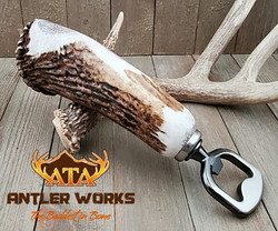 Elk burr bottle opener