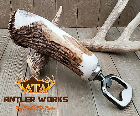 GUNMETAL ELK BURR BOTTLE OPENER