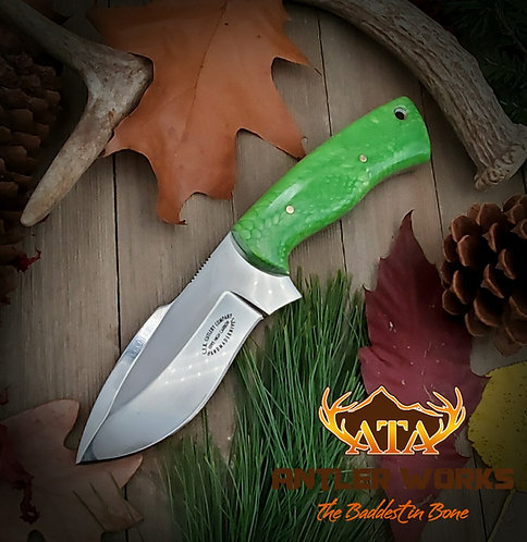Green Mamba handle hunting knife - 1095 HC
