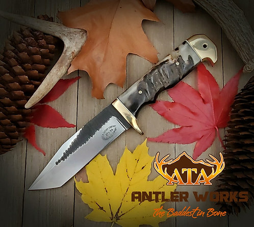 Ram's horn handle tanto knife - ATS-34