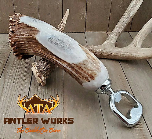 CHROME PLATED ELK BURR BOTTLE OPENER