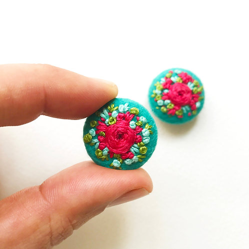 Tiny flowers button set- 1