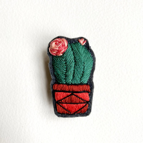 Cactus Brooch 19-05 -reserved-
