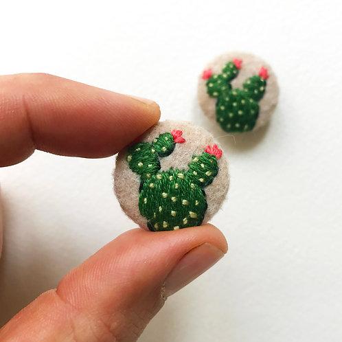 Tiny cactus button set- 2