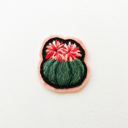Cactus Patch No 5 - Hand embroidered patch