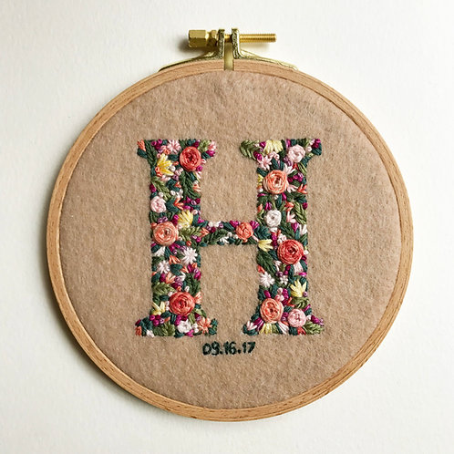 Custom Initial Embroidery for Leslie