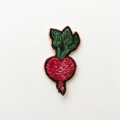 Radish Patch No1 - Hand embroidered patch